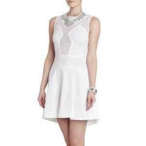 bcbgmaxazria serina white dress